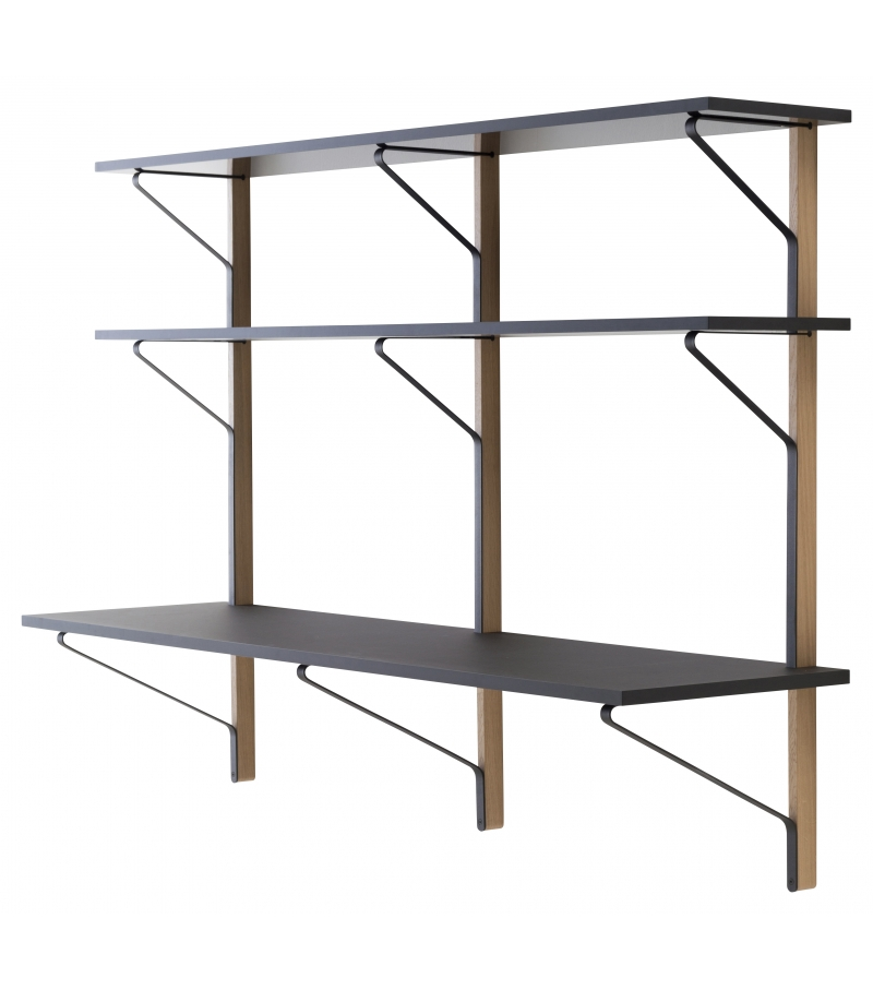 kaari shelf with desk artek regal mit schreibtisch milia. Black Bedroom Furniture Sets. Home Design Ideas