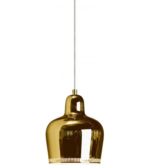 "A330S Pendant Lamp ""Golden Bell"" Artek Lampada a Sospensione"
