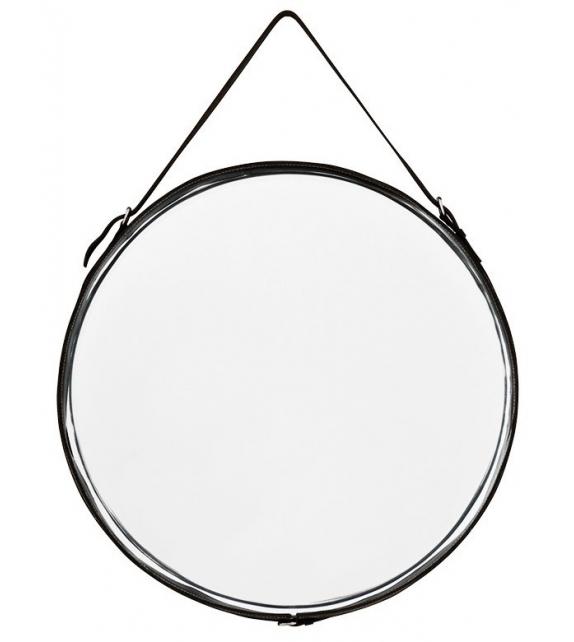 Mirror With Leather Eichholtz Spiegel