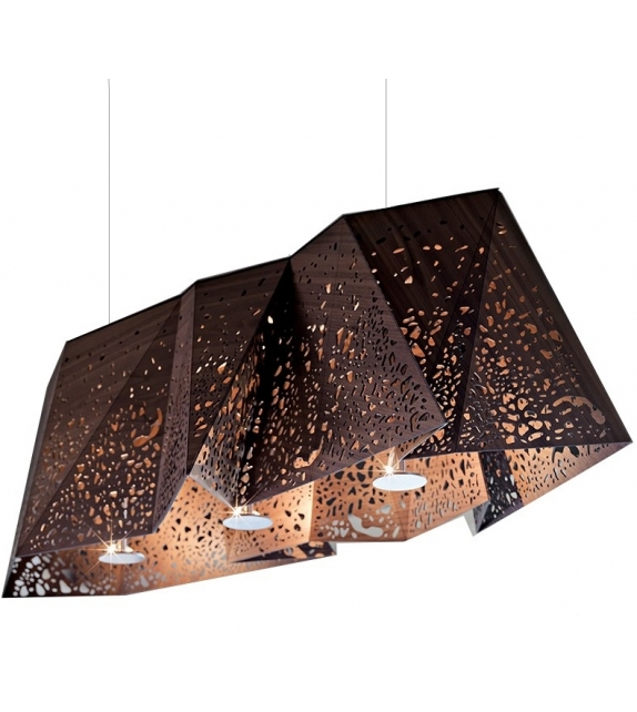 Plywood Chandelier Horm Ceiling Lamp