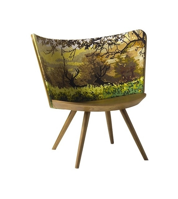 Embroidery Chair Cappellini Fauteuil