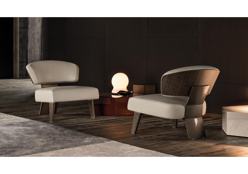 Creed wood minotti fauteuil milia shop - Meubles minotti ...