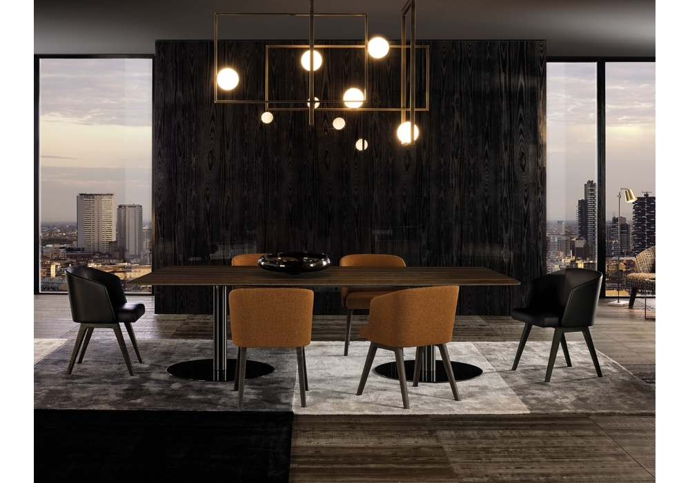 bellagio dining pewter minotti tisch milia shop. Black Bedroom Furniture Sets. Home Design Ideas