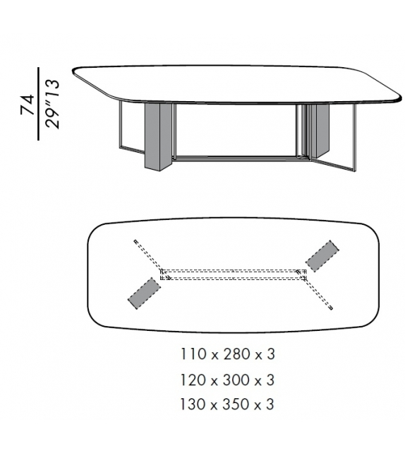 Plinto Biscuit Y2W Meridiani Table