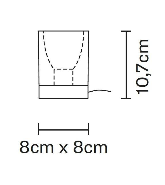 Cubetto D28 Fabbian Lampada da Tavolo