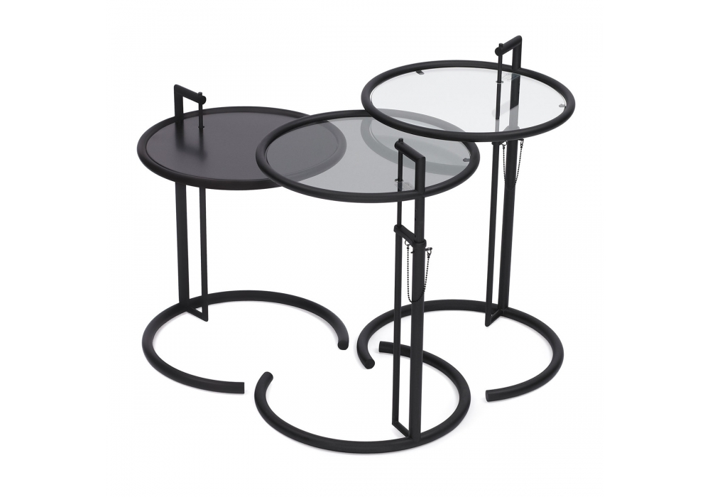 adjustable table e 1027 classicon tavolino milia shop. Black Bedroom Furniture Sets. Home Design Ideas