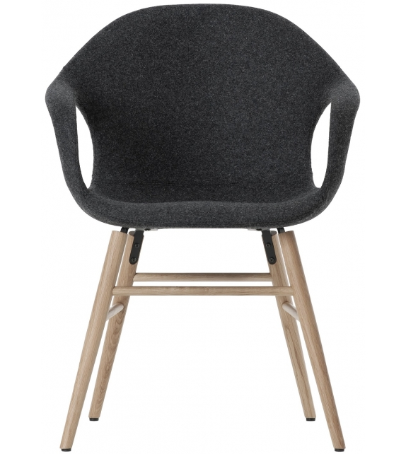 Elephant Covered Chair With Wooden Base Kristalia