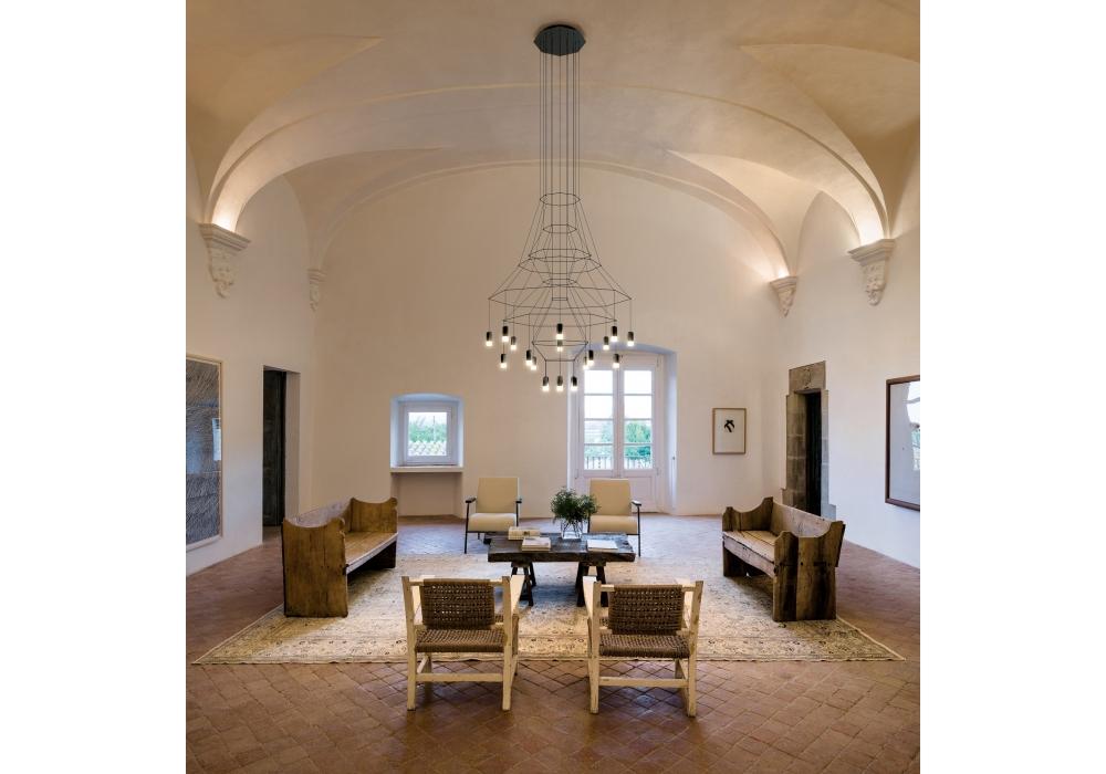 wireflow vibia chandelier milia shop. Black Bedroom Furniture Sets. Home Design Ideas