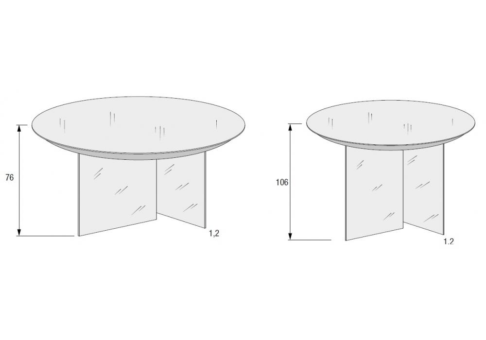 Air Round Lago Table - Milia Shop