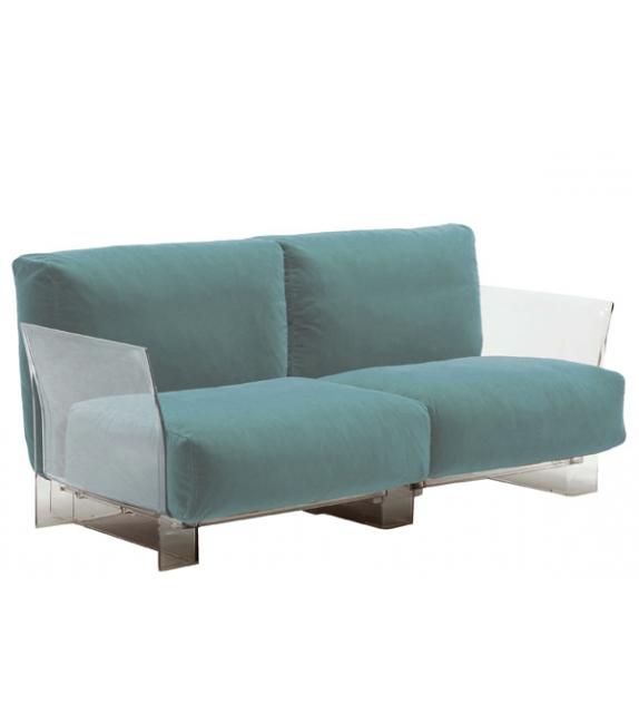 Pop sofa tessuto Trevira/cotone tinta unita