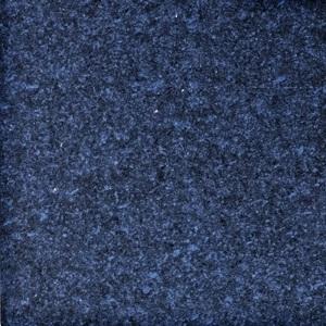 Ocean blue enamelled lava stone