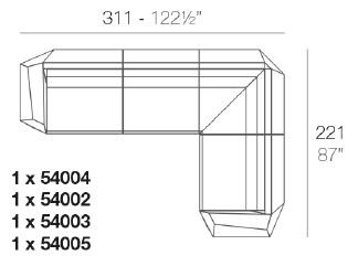 Faz_ 311 x 221 x H 70 cm