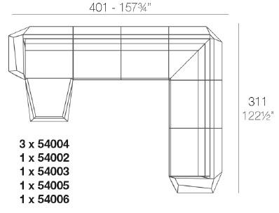 Faz_ 401 x 311 x H 70 cm