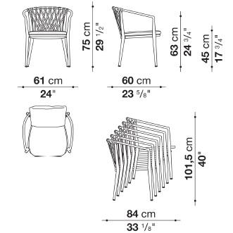 E61S_I_ 61 x 60 x H 75 cm - Stackable