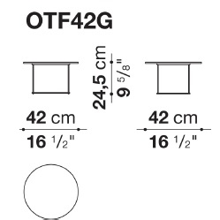 OTF42G_ Ø 42 cm x H 24.5 cm