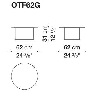 OTF62G_ Ø 62 cm x H 31 cm