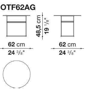 OTF62AG_ Ø 62 cm x H 48.5 cm