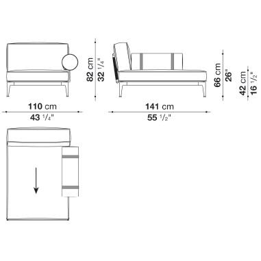 RBR141LB_1_ Dx_ 100 x 141 x H 82 cm