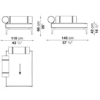 RBR145LB_1_ Sx_ 100 x 145 x H 66 cm
