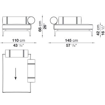 RBR145LB_1_ Dx_ 100 x 145 x H 66 cm