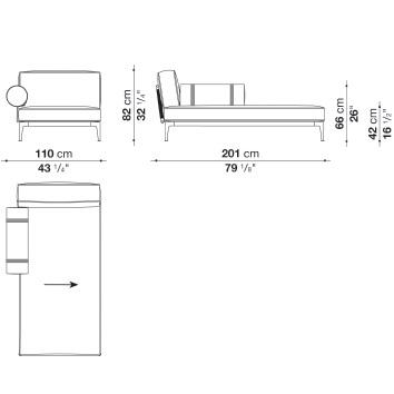 RBR201LB_ Sx_ 110 x 201 x H 82 cm