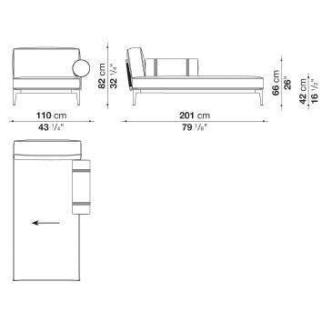 RBR201LB_ Dx_ 110 x 201 x H 82 cm