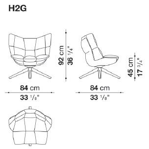 H2G_ 84 x 84 x H 92 cm - Hs 45 cm