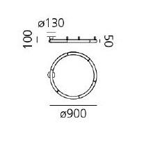 Alphabet of Light Semi-Recessed Linear_ Ø 90 cm