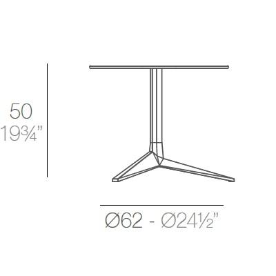 Faz_ Ø 65 x H 50 cm (3 Jambes)