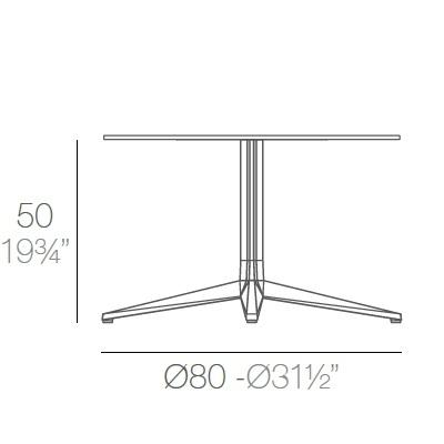 Faz_ Ø 80 x H 50 cm (4 Jambes)