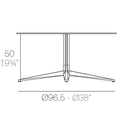 Faz_ Ø 96.5 x H 50 cm (4 Jambes)