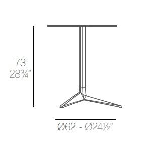 Faz_ Ø 65 x H 73 cm (3 Jambes)
