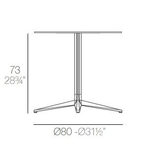 Faz_ Ø 80 x H 73 cm (4 Jambes)
