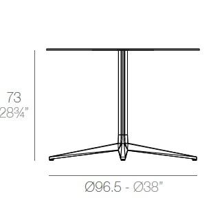 Faz_ Ø 96.5 x H 73 cm (4 Jambes)