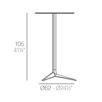 Faz_ Ø 65 x H 105 cm (3 Beine)