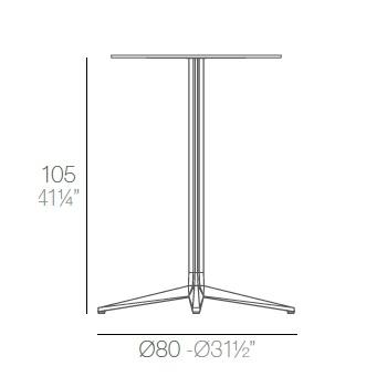 Faz_ Ø 80 x H 105 cm (4 Beine)
