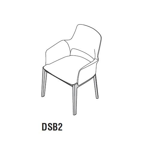 DSB2_ 60 x 61 x H 82 cm (Open backrest)