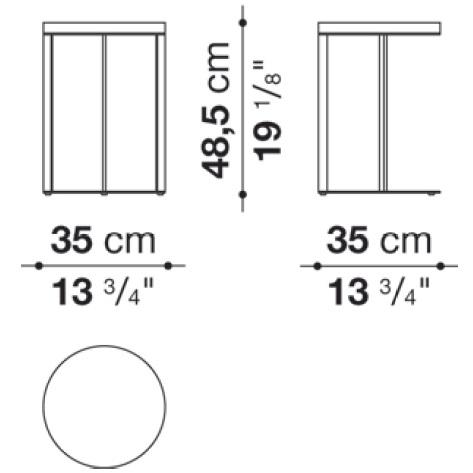 SMTT3BM_ Ø 35 cm x H 48.5 cm