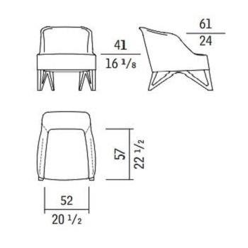 Mobius 62920_ 64 x 85 x H 71 cm