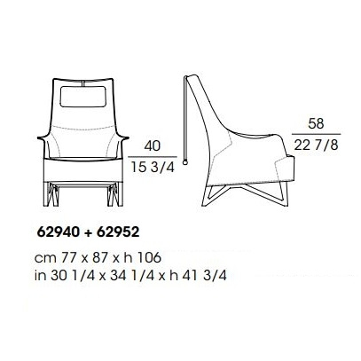 Mobius 62940+62952_ 77 x 87 x H 106 cm