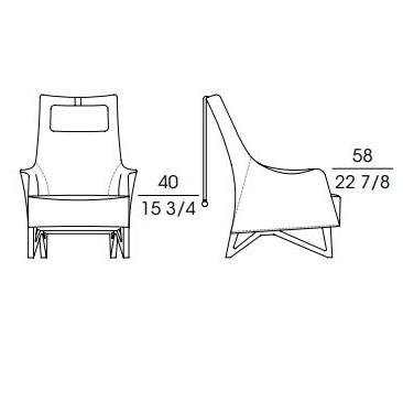Mobius 63940_ 77 x 87 x H 106 cm (con reposacabezas)