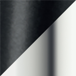 Black Matt / Polished Aluminium
