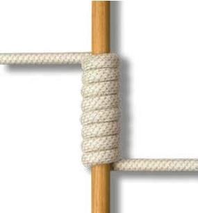 Teak + beige rope_ TKR16T