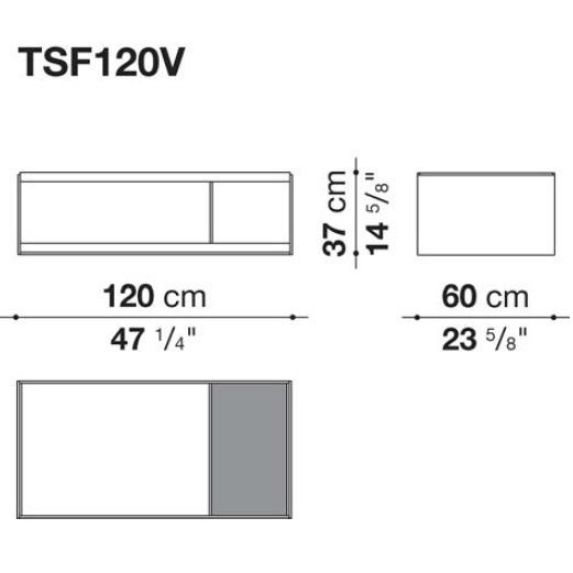 TSF120V_ 120 x 60 x H 37 cm
