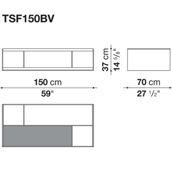 TSF150BV_ 150 x 70 x H 37 cm