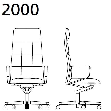 2000_ 78x78xH 127–135 - réglable en hauteur