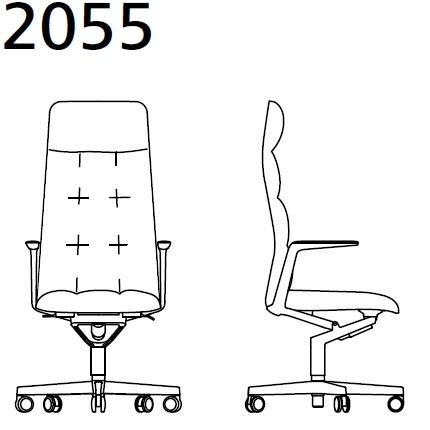 2055_ 72x72xH 118.5–127.5 - regolabile in altezza