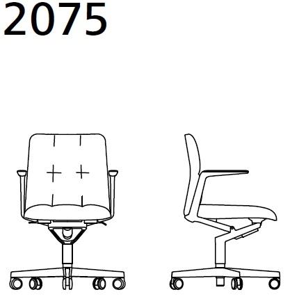 2075_ 72x72xH 84–93 - regolabile in altezza