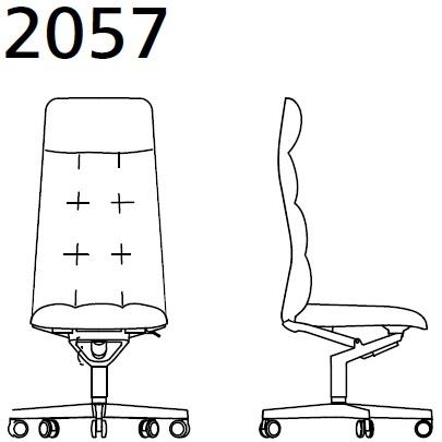 2057_ 72x72xH122 cm - Senza braccioli