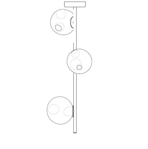 28.3 Ø14,2 x H 90 cm ( Stem )